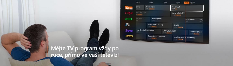 mějte TV program vždy po ruce, přímo ve vaší televizi
