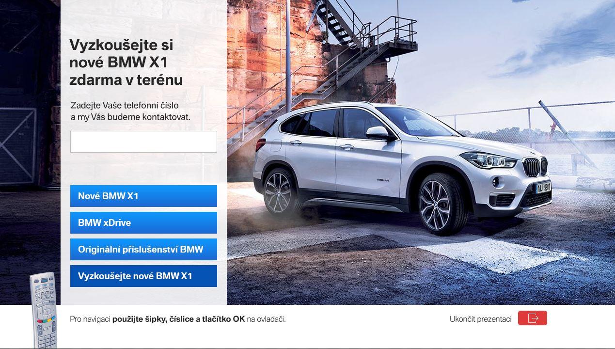 Kampaň BMW poprvé kombinuje tři formáty HbbTV